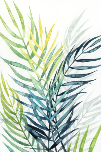 Premium poster Palm leaves in the evening light II