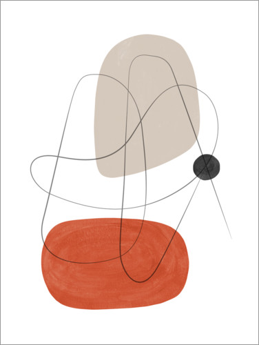 Premium poster Abstract composition III