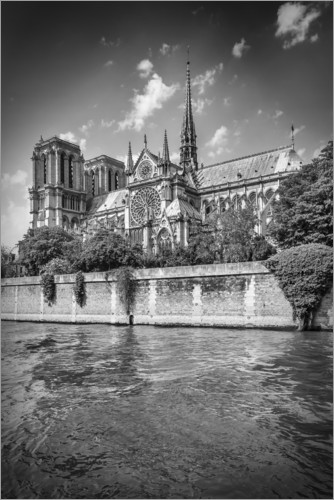 Premium poster South facade of the Cathedral Notre-Dame