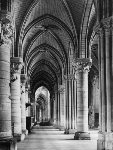 Premium poster Interior of Notre Dame cathedral