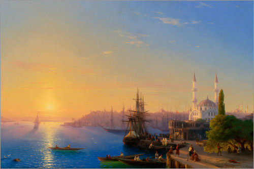 Premium poster View of Constantinople and the Bosphorus