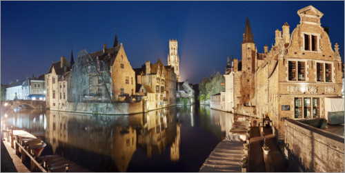 Premium poster The old town of Bruges