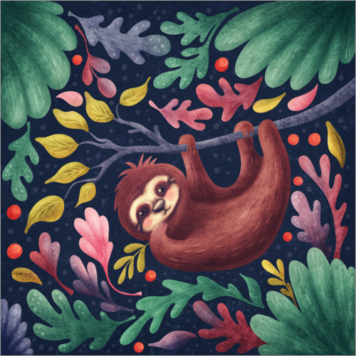 Premium poster Sloth in the forest