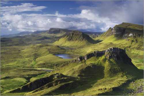 Premium poster Highlands on the Isle of Skye in summer, Scotland