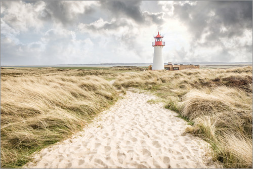 Premium poster Sand path to the lighthouse List-West on Sylt