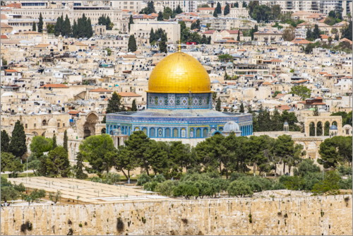 Premium poster View from the Mount of Olives in Jerusalem
