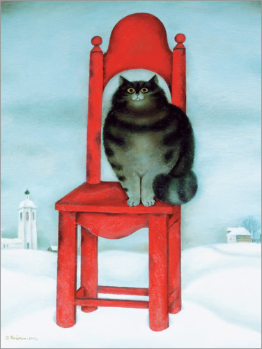 Premium poster Red chair