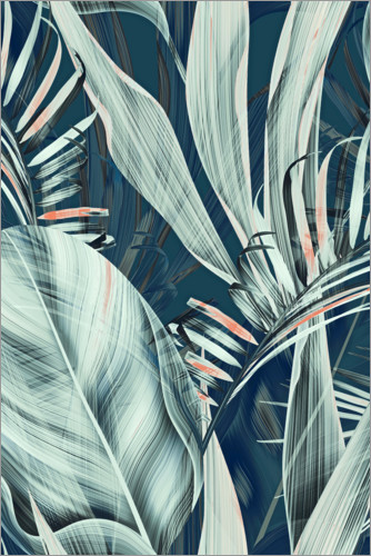 Premium poster Palm leaves collage