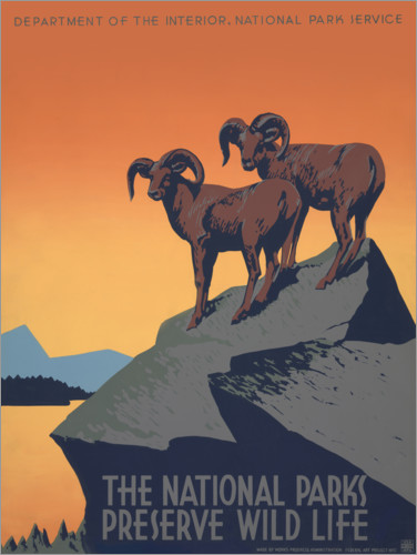 Premium poster Protecting National Parks