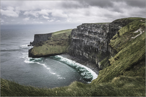 Premium poster Cliffs of Moher in the rain
