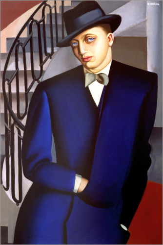 Premium poster Portrait of the Marquis of Afflitto in the staircase, 1926