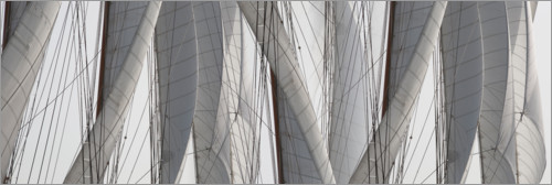 Premium poster Detail of the sails rigging