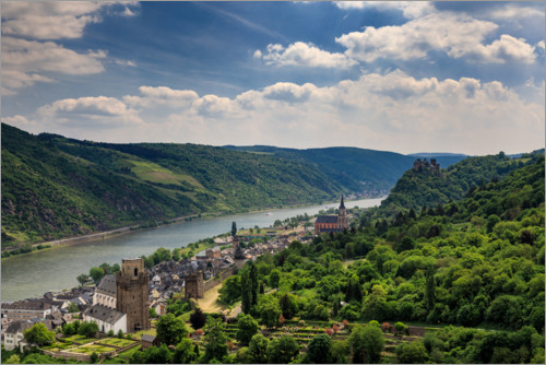 Premium poster View of the Rhine Valley near Oberwesel