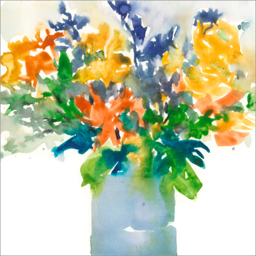 Wall sticker A colorful watercolor bouquet