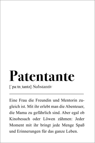 Premium poster Godmother definition (German)