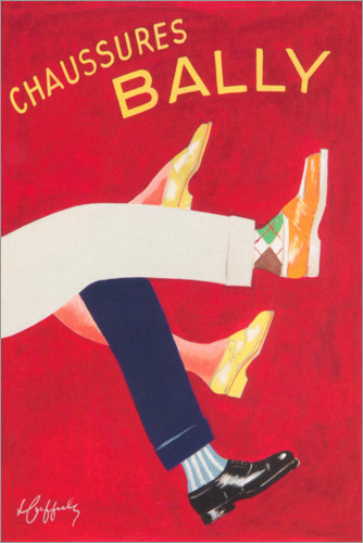 Premium poster Bally shoes (french)