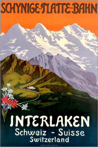 Premium poster Interlaken