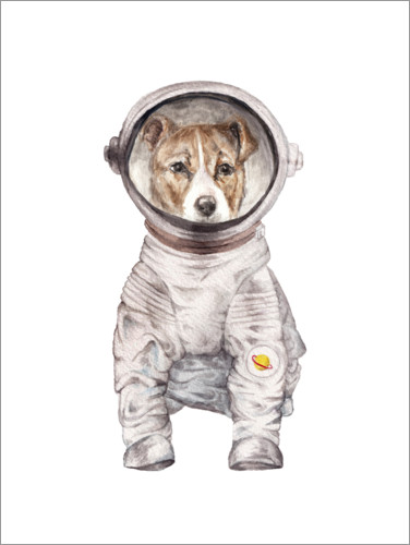 Premium poster Laika the space pup