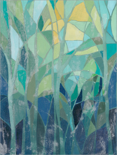 Premium poster Stained Glass Forest I