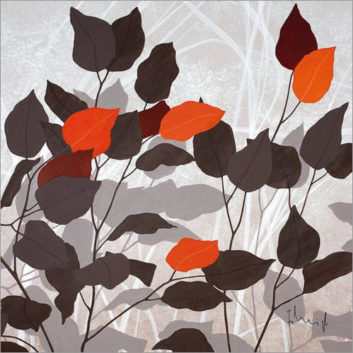 Wall sticker Autumn leaves III