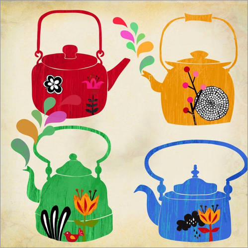 Wall sticker Vintage tea kettle