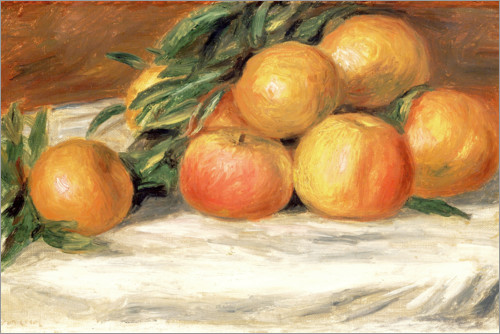 Premium poster Still Life with Apples and Oranges