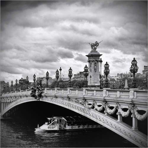 Wall sticker Pont Alexandre III PARIS mit Schiff