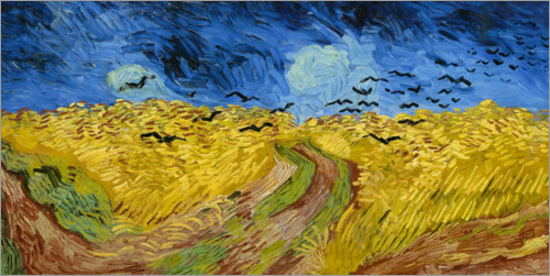 Premium poster Wheatfield with Crows
