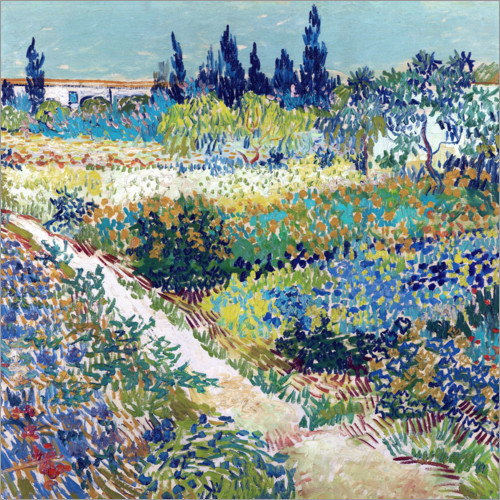 Premium poster The Garden at Arles