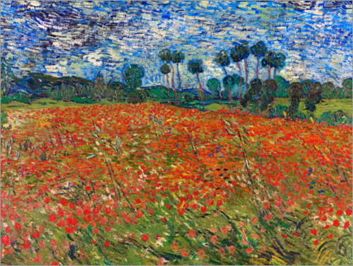 Premium poster Field of poppies, Auvers-sur-Oise