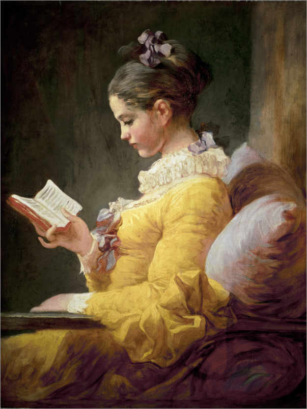 Premium poster Young girl reading