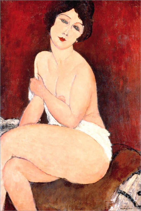 Premium poster Seated nude on a sofa (or: La belle Romaine)