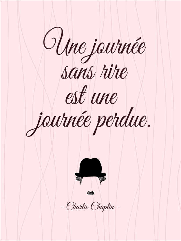 Premium poster A day without laughter (French)