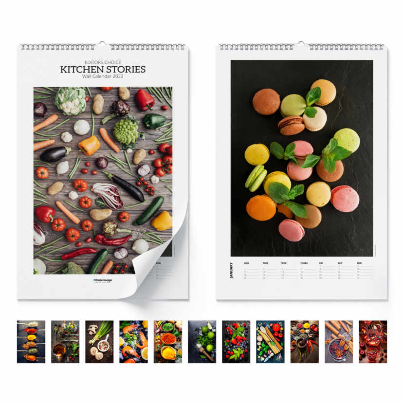 Wall calendar Kitchen Stories 2021