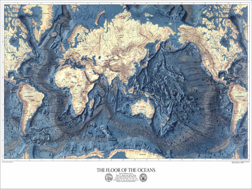 Premium poster The floor of the oceans