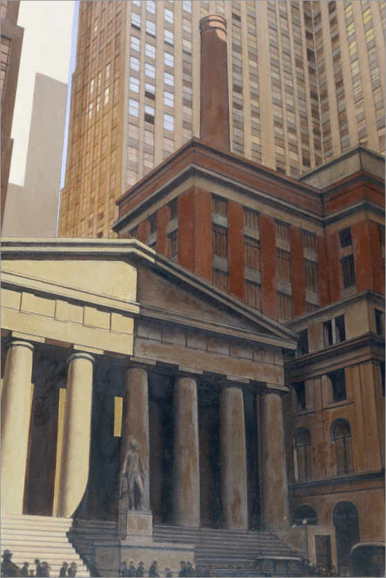 Premium poster Federal Hall, Wall Street