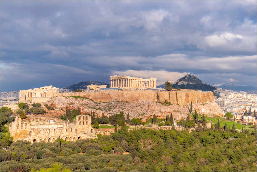 Premium poster The Acropolis of Athens, Greece