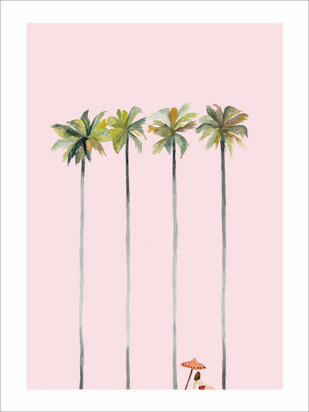 Premium poster On the pink beach