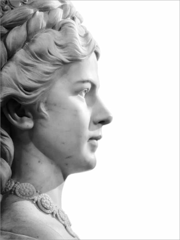 Premium poster Marble bust