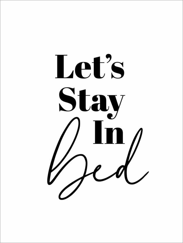 Premium poster Let's Stay in Bed