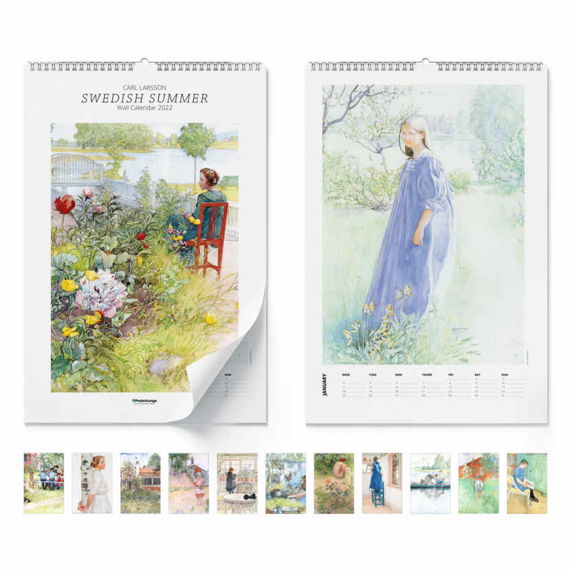 Wall calendar Swedish summer 2021