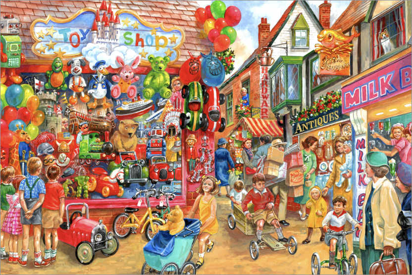Premium poster The toy store