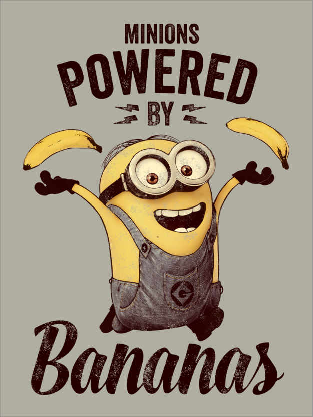 Premium poster Minions - Powered by Bananas