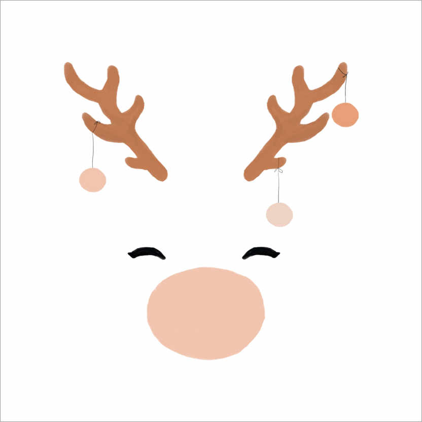 Wall sticker White Reindeer