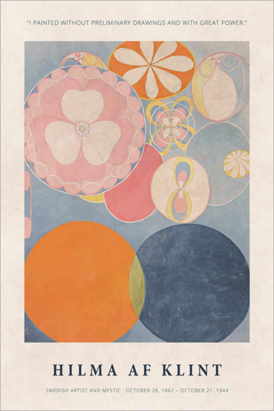 Premium poster Hilma af Klint - With great power