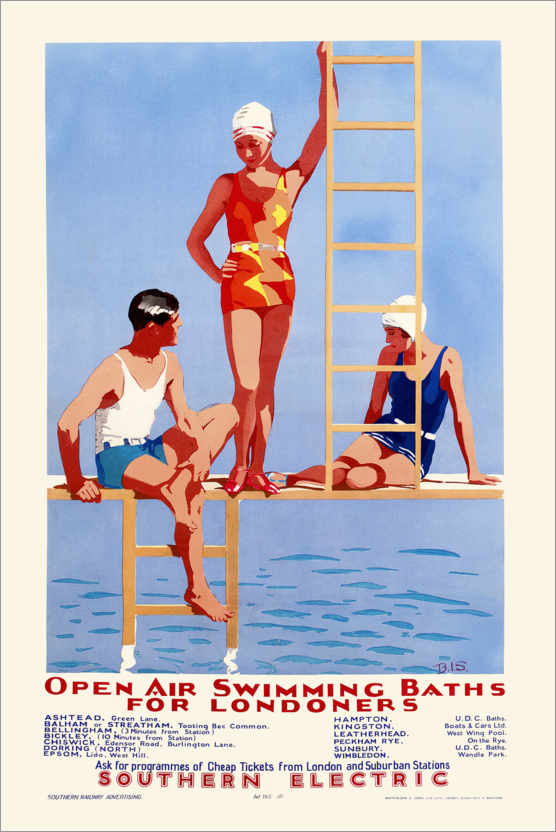 Premium poster Open Air Swimming Baths for Londoners