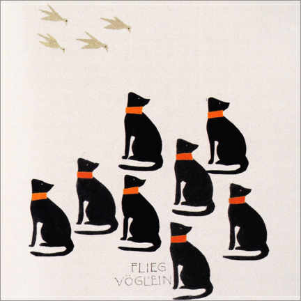 Canvas print  Flieg Vöglein (German) - Koloman Moser