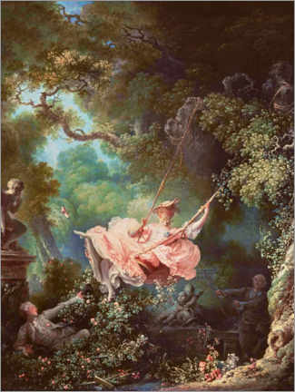 Wood print  The swing - Jean-Honoré Fragonard
