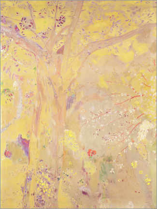 Premium poster  Yellow Tree - Odilon Redon