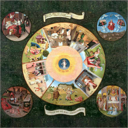 Premium poster  The Seven Deadly Sins and the Four Last Things - Hieronymus Bosch